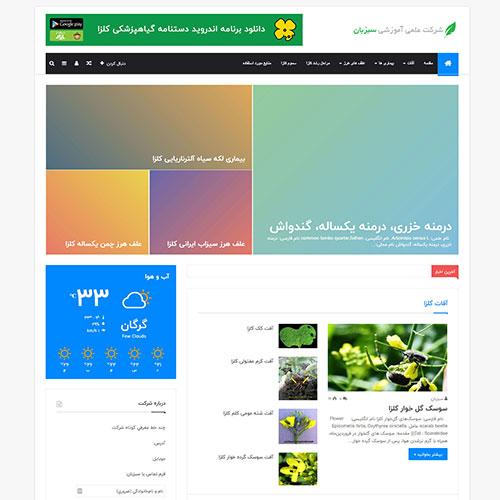 طراحی وب سایت شرکت دانش بنیان