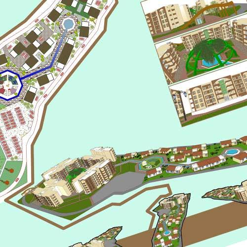 طراحی 3D مجتمع مسکونی