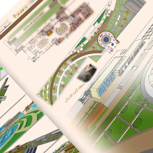 طراحی شیت معماری راه آهن