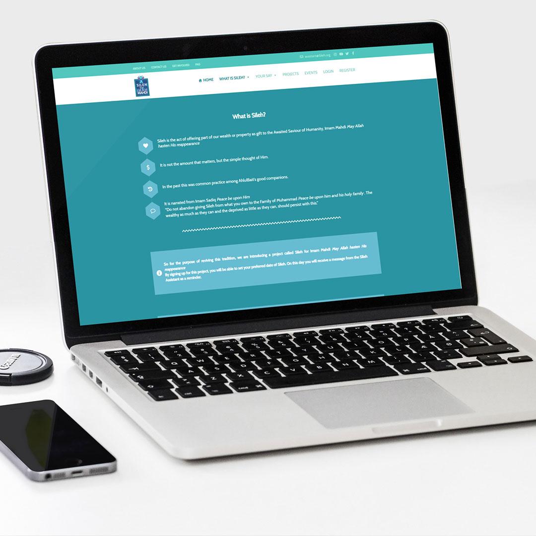 طراحی وب سایت کمک مالی صله | طراحی وب سایت